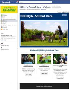 Facebook pagina voor ECOstyle AnimalCare