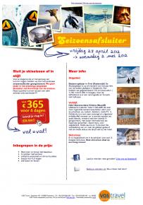 nieuwsbrief voor VOS travel