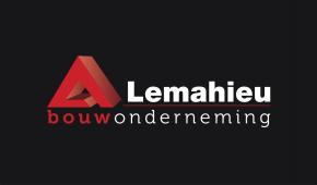 logo ontwerp, huisstijl voor Lemahieu Bouwonderneming