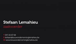 naamkaart, huisstijl voor Lemahieu Bouwonderneming