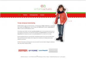 Enfants actuels - kinderkledij webdesign