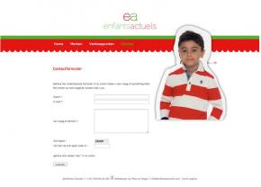 Enfants actuels - kinderkledij - webdesign