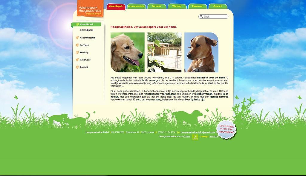 Moof grafisch vormgever ontwierp de website voor Hoogmaatheide