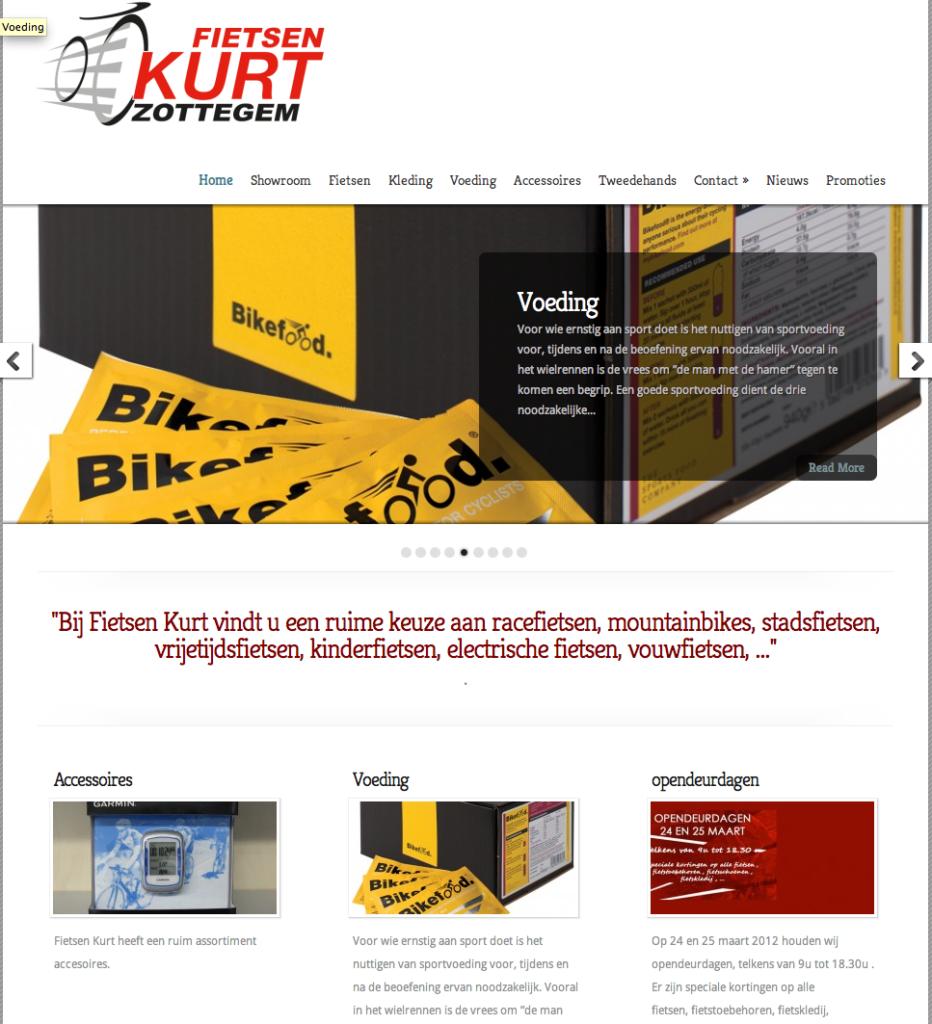 Fietsen Kurt liet Moof zijn website ontwikkelen. En koos gelijk voor een krachtige e-shop als online verkoopstool.