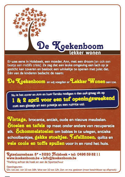 De Koekenboom advertentie