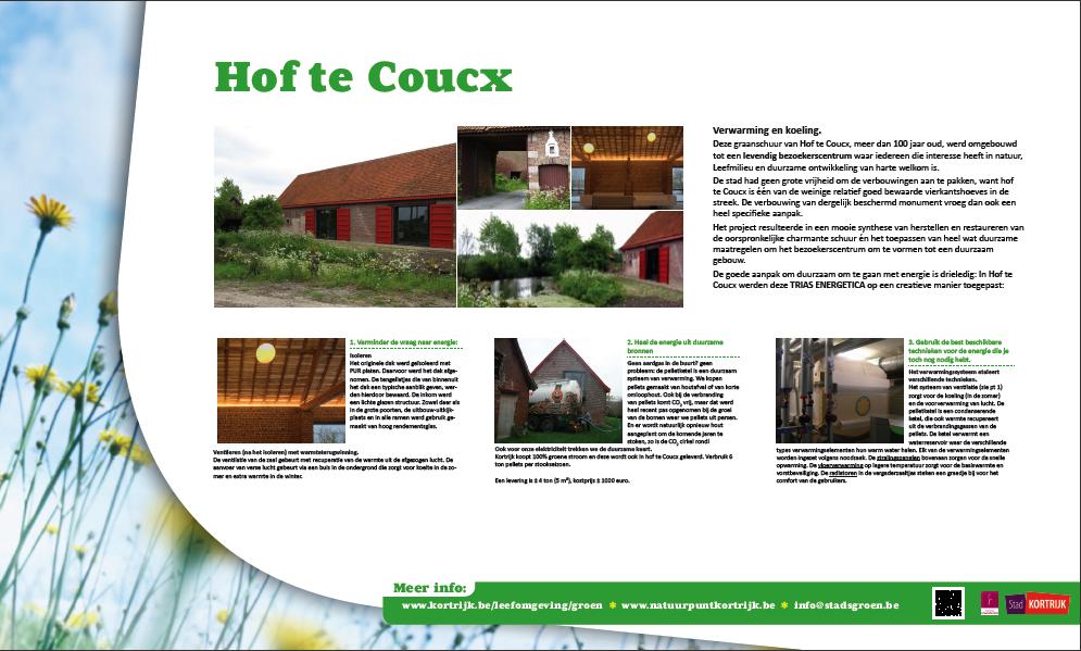 Moof grafisch ontwerper ontwierp het infobord voor stad kortrijk