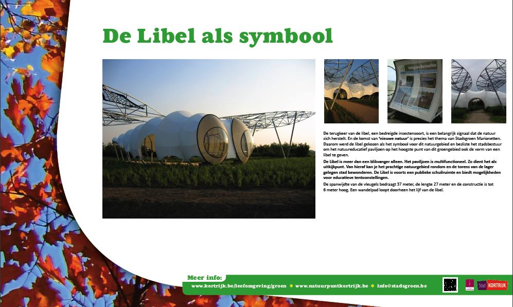 Info bord in opdracht van Stad Kortrijk