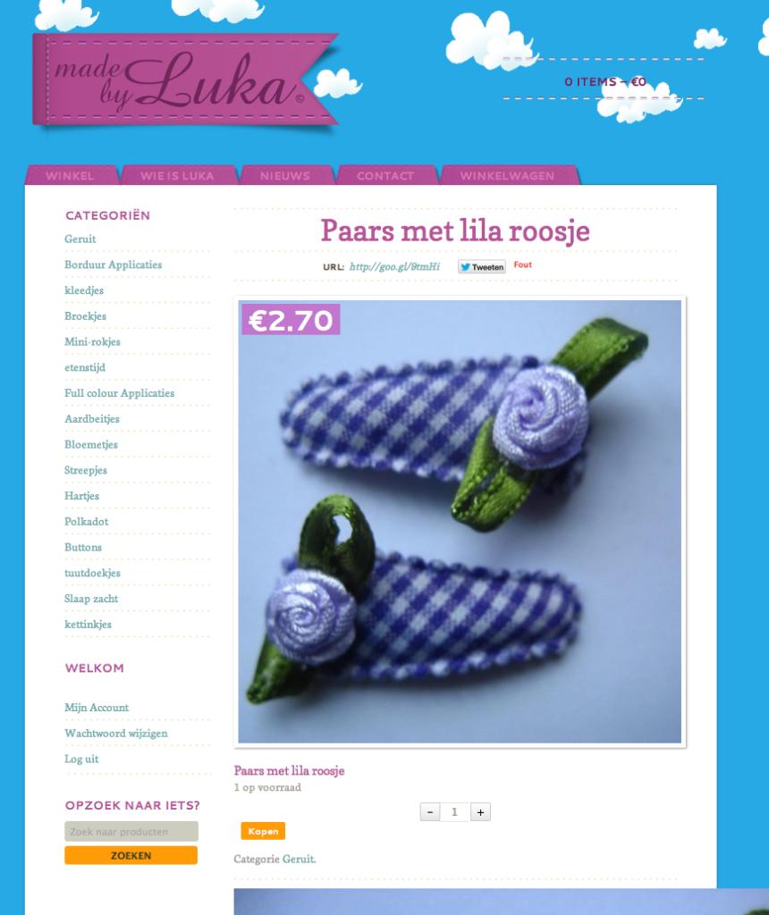 Moof plaatste de e-shop van made by luka online. Een vrolijke hippe kinderkledij shop. Handmade!