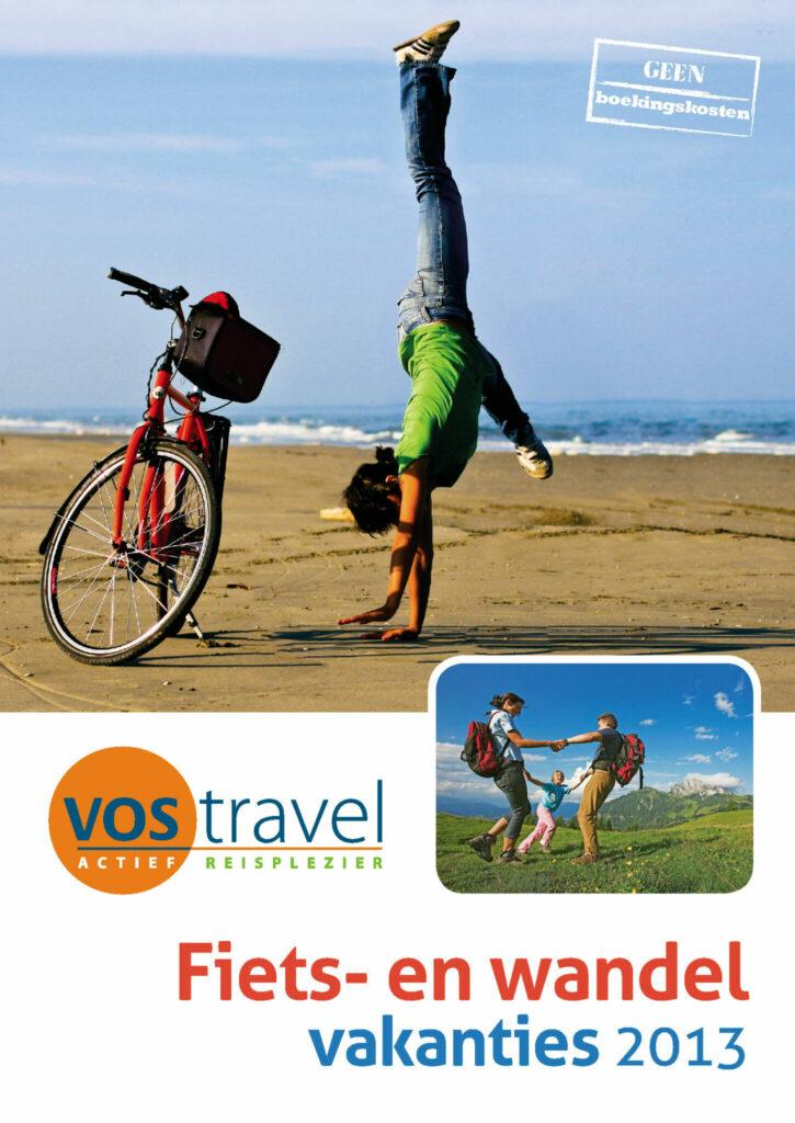 Moof ontwierp de reisgids voor VOS travel. Fiets en wandelvakanties