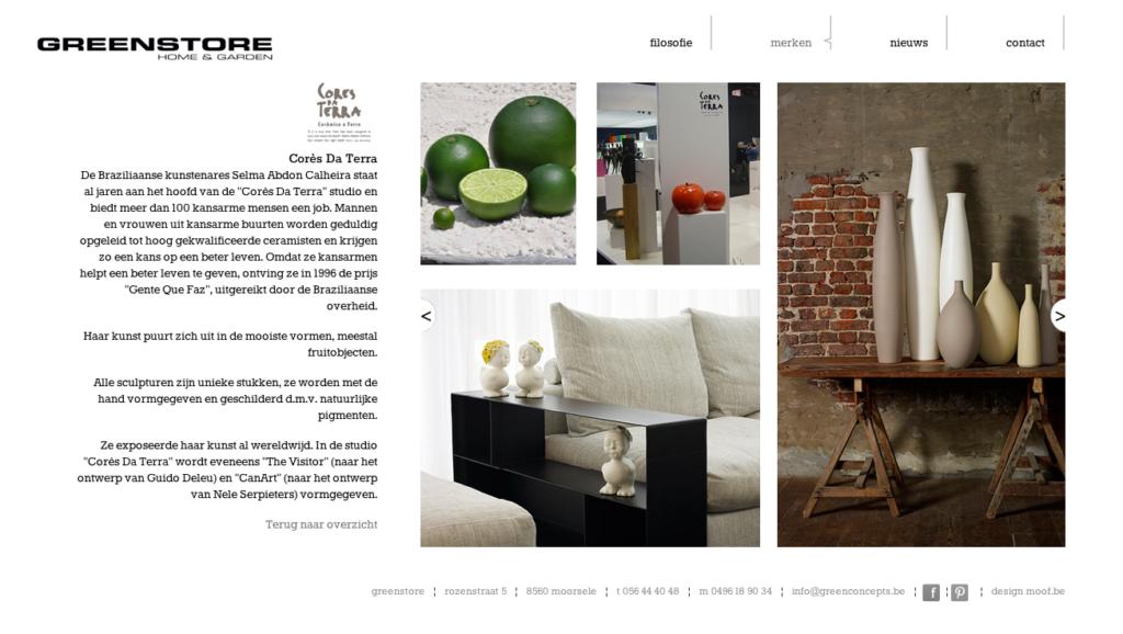 Moof ontwikkelde de site voor Green-store, greenconcepts