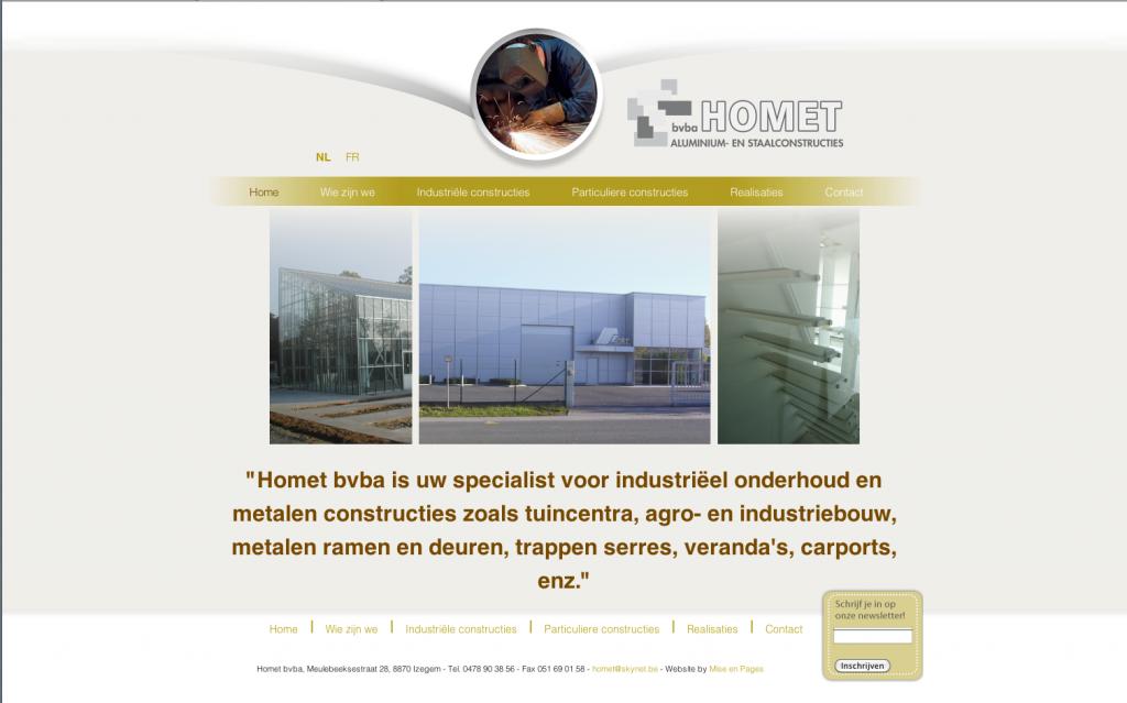 Moof ontwierp de website voor Homet
