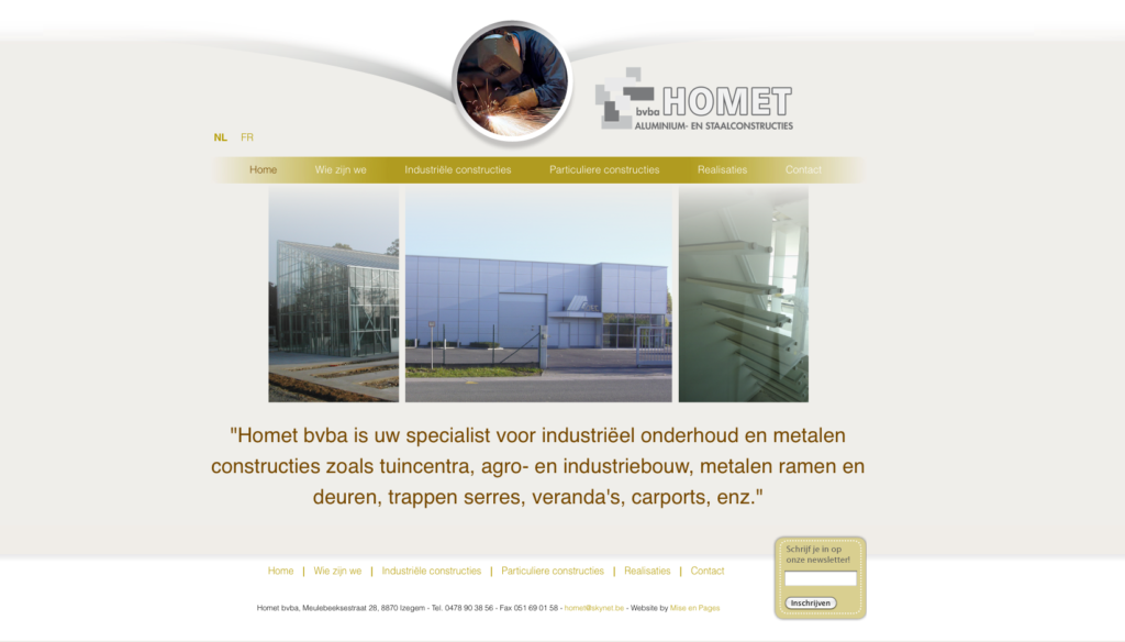 Nieuwe website voor Homet