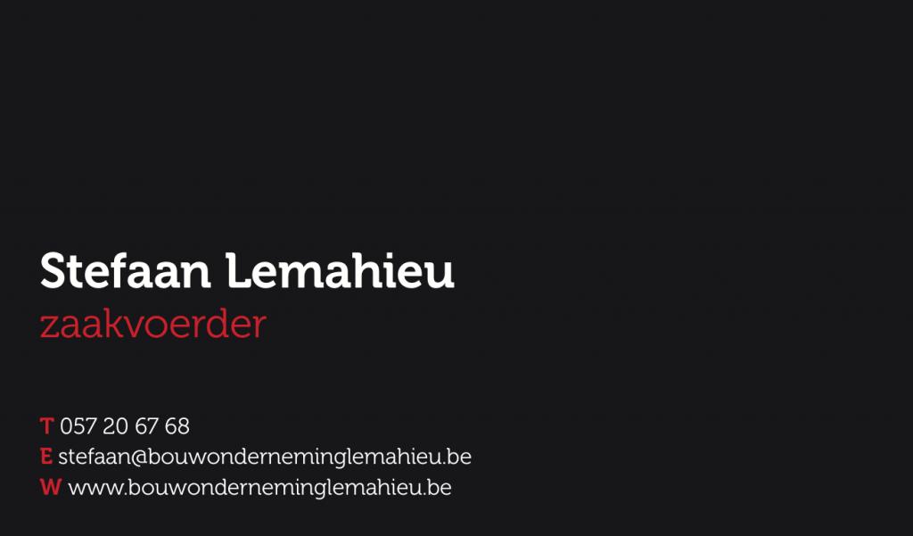 moof ontwikkelde de huisstijl voor Lemahieu Bouwonderneming