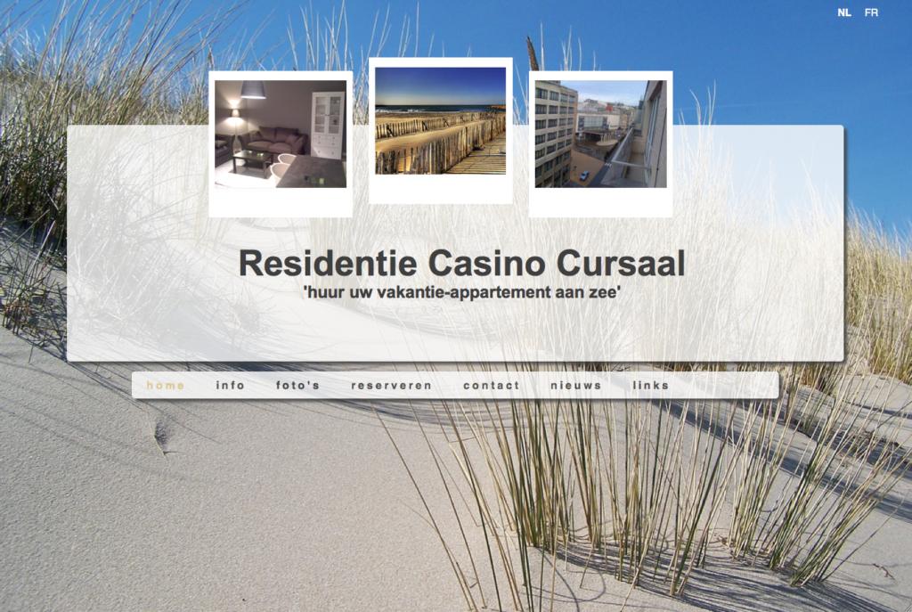 Moof ontwierp de website voor een vakantie huis, appartement aan zee. Knal tegenover het Casino Kursaal in Oostende