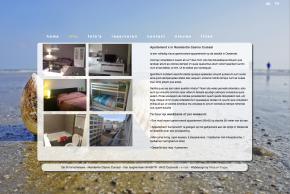 Website ontwerp voor een vakantiehuis aan zee.