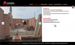 website Lemahieu bouwonderneming