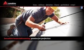 home pagina website lemahieu bouwonderneming