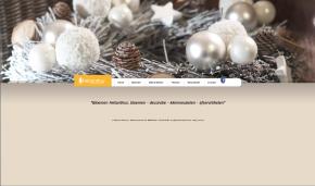 Homepagina voor Bloemen helianthus. Wintersfeer