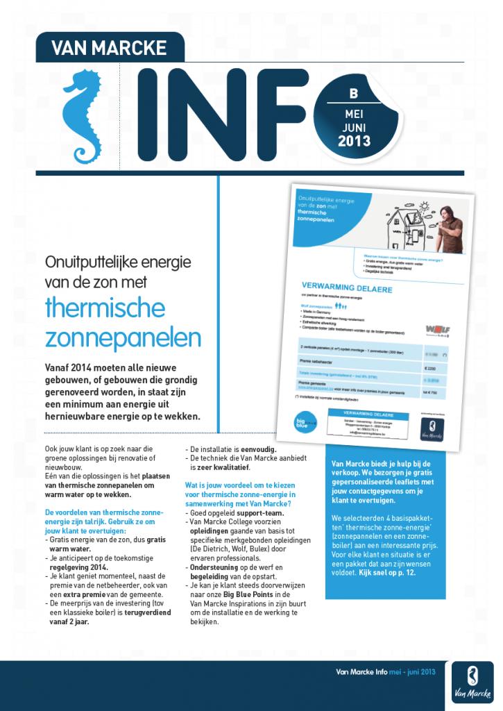 Moof grafisch ontwerp restylde de info krant van Van Marcke tot een fris luchtig magazine voor de vakhandel.