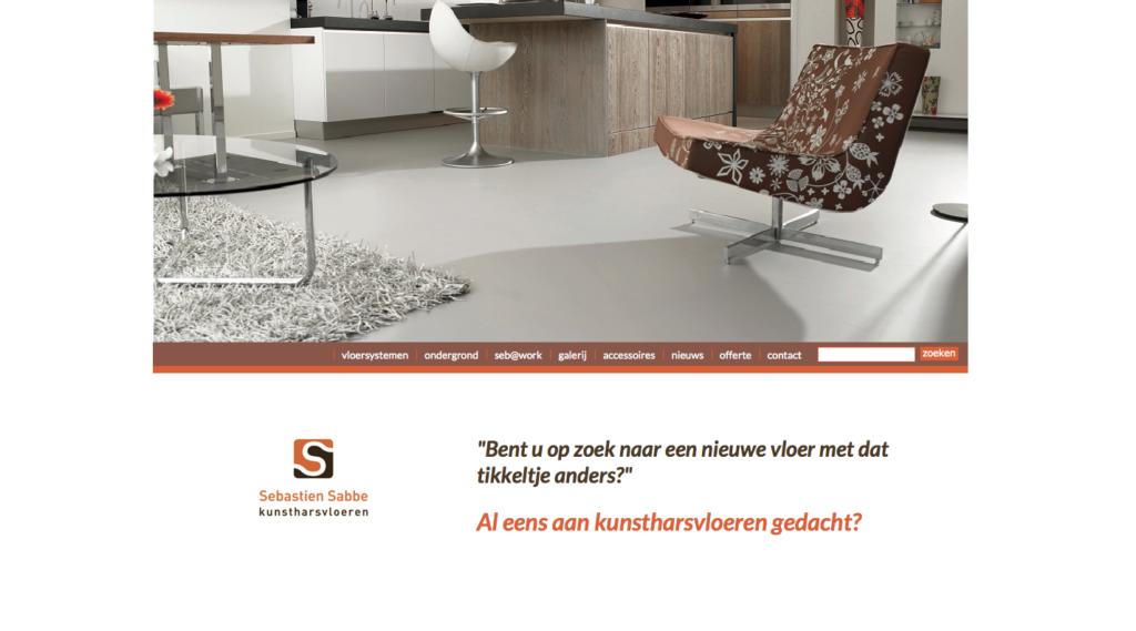 Nieuwe website voor kunstharsvloeren Sabbe