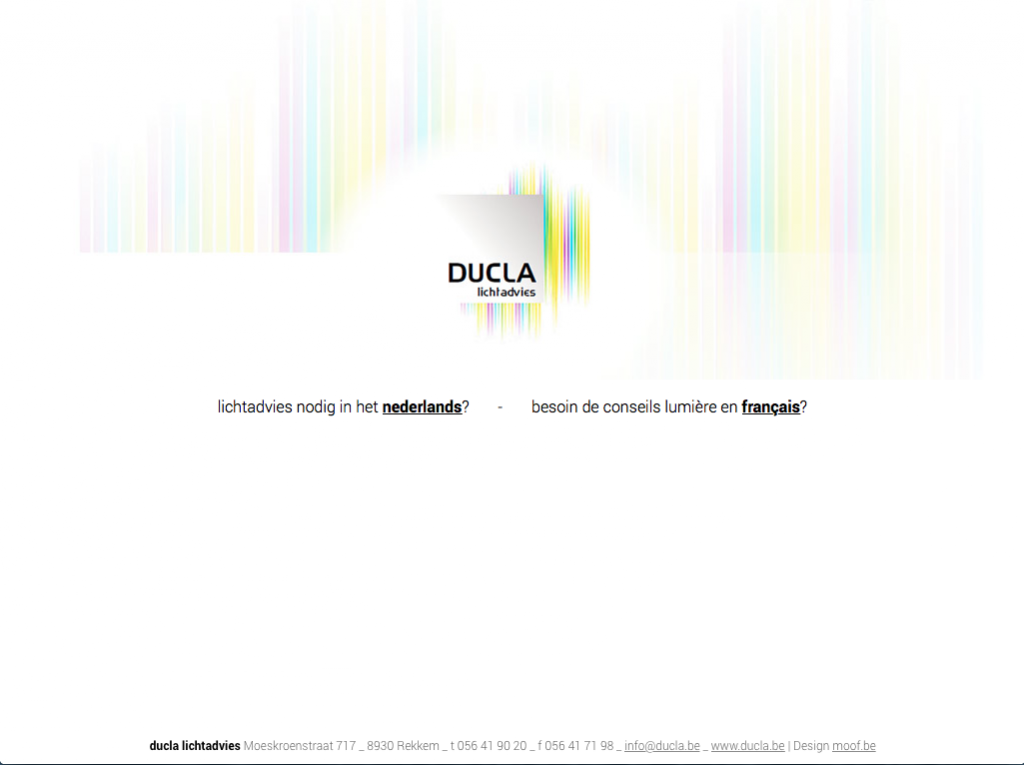 Nieuwe site voor Ducla lichtadvies door Moof grafisch ontwerp