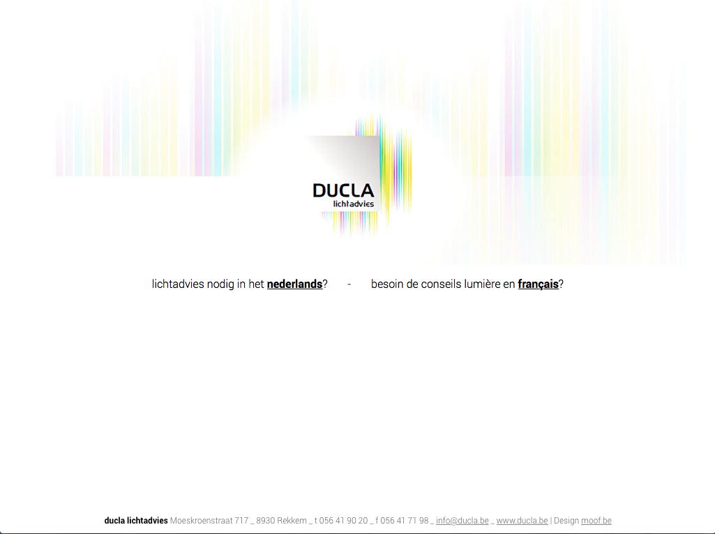 Ducla lichtadvies vernieuwde zijn website