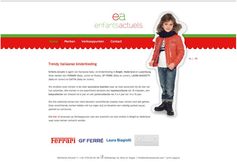 Enfants actuels webdesign