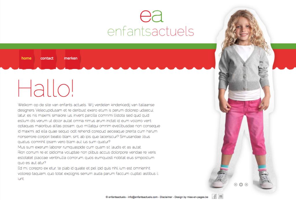 Website enfants actuels