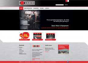 Zasco-website ontwerp